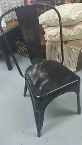 Dining Chair Tolix Powder Coated Metal BLACK HT042B