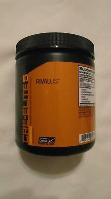 Rivalus Cre-Elite 5 Premium 5 Blend Creatine .67 lbs 301 g 35 Servings Orange