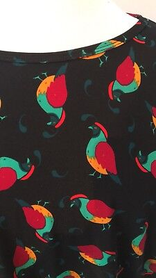 LuLaRoe Irma Medium Quail Bird Black