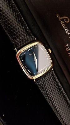 Lady's Piaget Solid 18k Gold 18j 5 Pos/temp Wristwatch. Orig.18k Clasp, Boxes