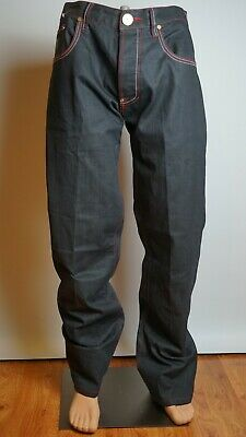 S2ONE DENIM ATELIER Jeans Men's W38 Black Decorated Used Rave Punk Style Great