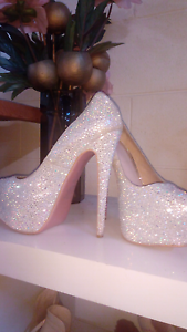SILVER BLING PLATFORM STILETTOS East Perth Perth City Area Preview