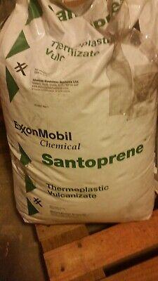 ExxonMobil santoprene thermoplastic Vulconizate injection pellets white 55lbs