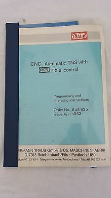 Cnc Automatic Tns With Traub Tx-8 Control Programming Operating Instructions