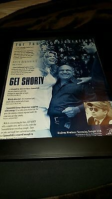 Get Shorty Rare Academy Awards Best Director Promo Poster Ad Framed! (Best Poster Directors Posters)