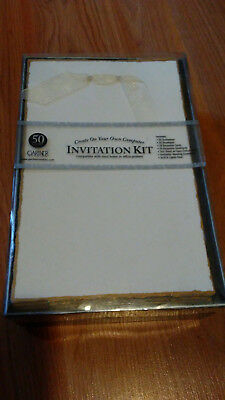 Gartner® Studios Gold Deckled Edge Wedding Invitation + Response Card Kit 50 New ()