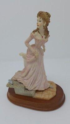 1900s Women Fashion Statue Figurine Alabaster Carving