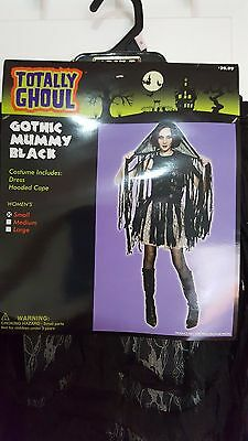 Mummy Halloween Costumes For Women (New Womens Totally Ghoul Gothic Mummy Black Halloween Costume Sz)