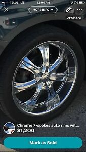 22inch rims with  rubber great condition