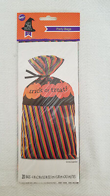 Wilton Party Bags -  Halloween Trick or Treat, NEW
