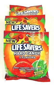Life Savers Candy Five Flavors Fruit Variety Hard Individually Wrapped 3 Packs ](Lifesaver Flavors)