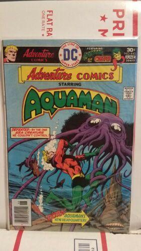 """Lot Of 3 1976 """"Aquaman"""" DC Comics/Adventure Comics Books (#443,#444 & #445)"""