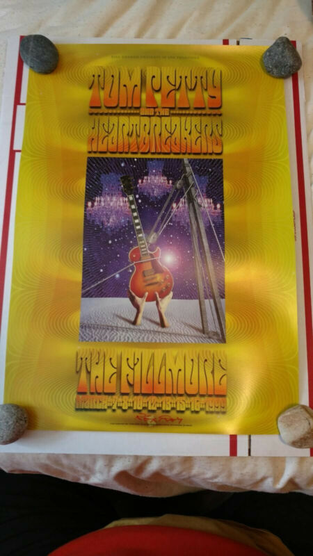 Tom Petty and The Heartbreakers Bill Graham Fillmore Poster March 1999