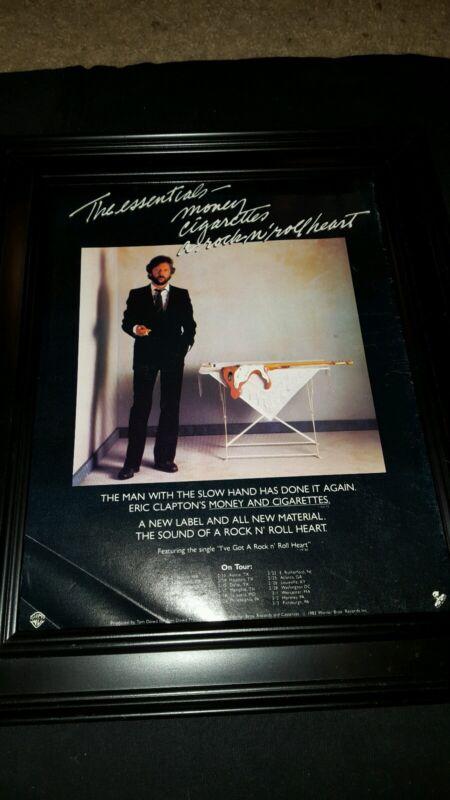 Eric Clapton Money And Cigarettes Tour Rare Original Promo Poster Ad Framed!