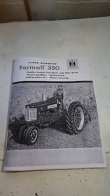 International Harvester Farmall 350 brochure 28 pages full size 11x8.5