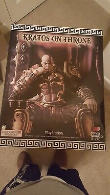 Gaming Heads God Of War Kratos On Throne Exclusive Statue Ares Armor 1 4 Scale