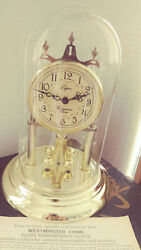 Vintage Elgin Clock Chime Westminster 11 with Glass Dome - for Mantle - Works