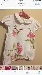 Authentic Tru Trussardi baby dress 6-9 months mois robe