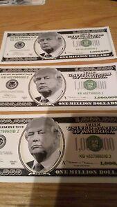 Donald Trump PRETEND Million dollar note