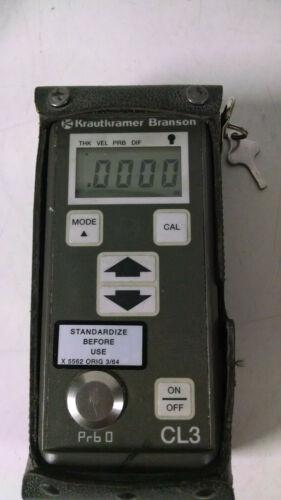 Krautkramer Branson CL3 Ultrasonic Thickness Gauge Used