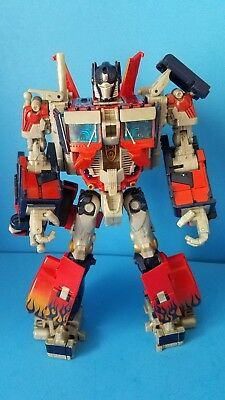 Transformers Action Figure Movie Leader Class Optimus Prime 2007 for parts!