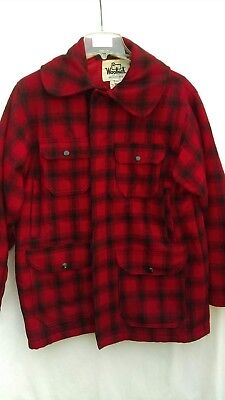 7a6d690853fb8 Vintage Woolrich Insulated Wool Hunting Jacket 40 Pants Buffalo Plaid Suit