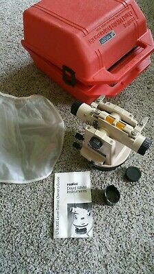 David White Lt8-300 Level Transit Level Surveyor W Case Extras