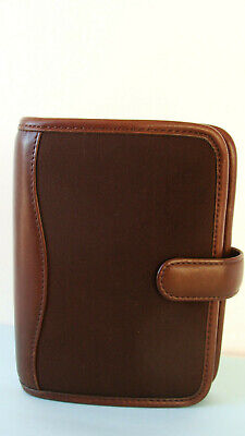 Pocket 78-rings Franklin Covey Brown Microfiber W Nappa Trim Plannerbinder