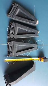 4x Roof rack Rhino 300mm gutter mount clamps/legs. No bars