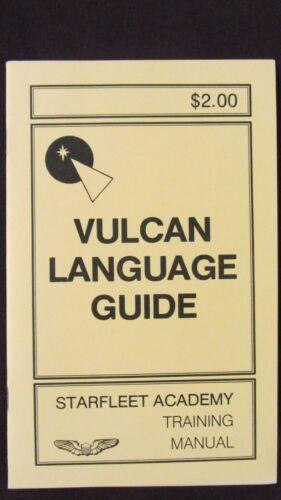 VULCAN LANGUAGE GUIDE - STARFLEET ACADEMY TRAINING MANUAL