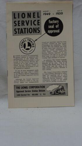 Lionel Service Stations Literature 1(949-1950) March 1950