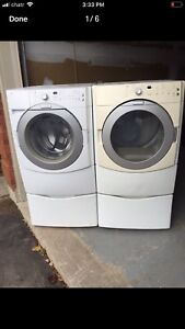 Maytag Perfect Washer DRyer with pedestals can DELIVER
