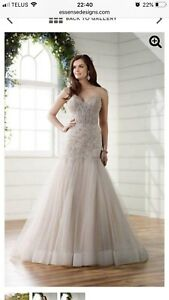 Beautifully detailed wedding gown