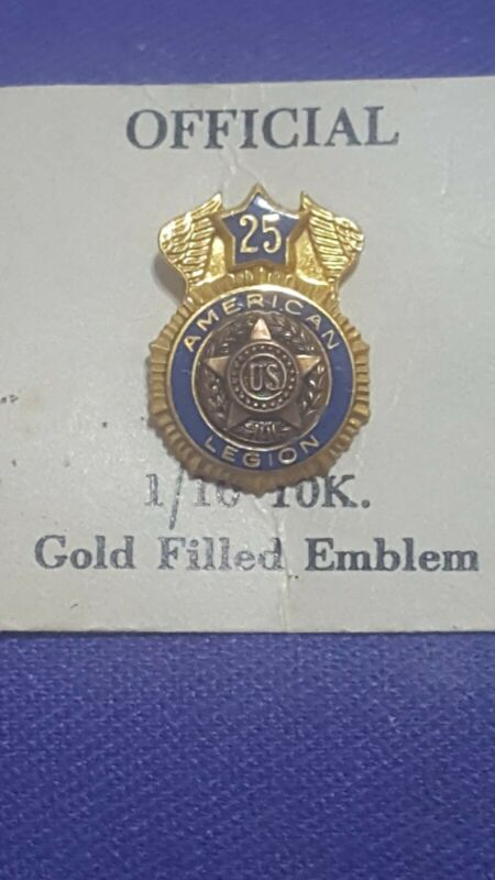 American Legion 25 Year (10k-GF) Gold Filled Hat/Tie Pin