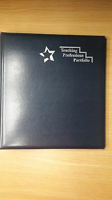 Teaching Professions Portfolio - 1 3-ring Binder W Sheet Inserts 10 Each - New