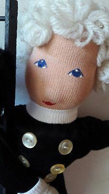 Puppe (Vintage) Schornsteinfeger Glücksbringer Handarbeit Unikat, Neujahrsdeko