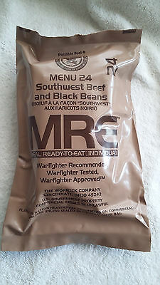 MRE U.S RATION PACK MENU 24 MILITARY, CAMPING, HIKING, FISHING,AIRSOFT, SURVIVAL