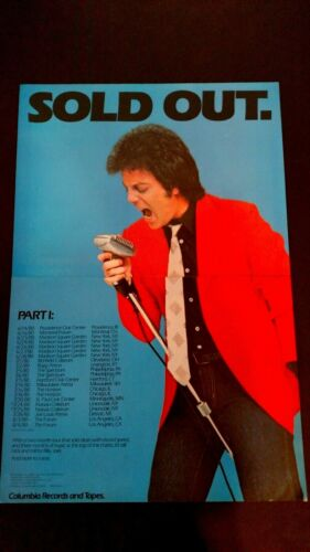 """BILLY JOEL """"SOLD OUT"""" PART:  1980  LARGE RARE ORIGINAL PRINT PROMO POSTER AD"""