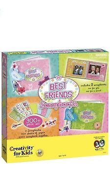 Creativity For Kids Best Friends 2 Scrapbooks Craft Kit Faber Castell 300 Pc