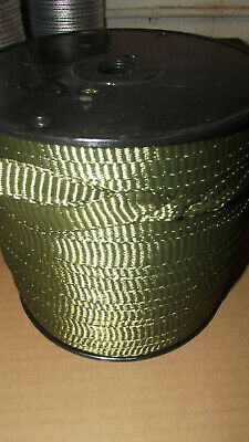58 X 500 1800 Tensile Polyester Pull Tape Mule Tape Webbing Green Usa