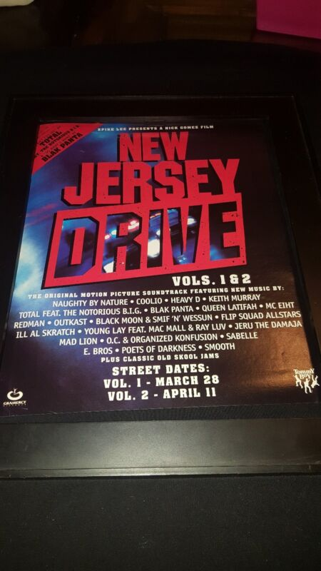 New Jersey Drive Soundtrack Rare Original Promo Poster Ad Framed!