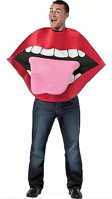 Unisex Adult Funny Red Lips & Tongue Animated Costume Outfit One Size NEW NIP