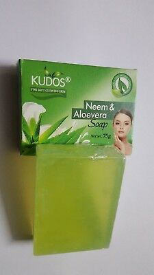 Kudos Neem and Aloe Vera Soap 100% Pure Natural 75gm at best price free