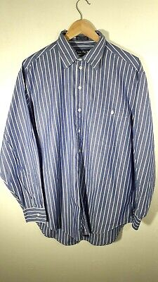 Mens Nautica Blue Striped Long Sleeve Smart Casual Shirt Size XL