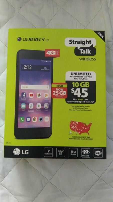 **MINT** Straight Talk LG Rebel 4 LTE Phone with screen protector