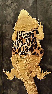 Lil' Bestie Bearded Dragon reptile Harness and Leash LEOPARD