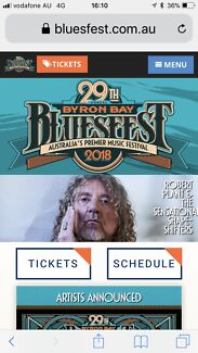 Bluesfest 2018 5day tickets will sell seperately