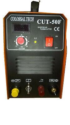 Pilot Arc Plasma Cutter Cut50f Inverter 50amp 220v 18 Consumables 3 Spacer Gui