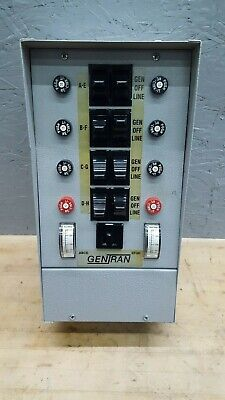 Gentran 8 Breaker Circuit Manual Generator Transfer Switch Panel Used