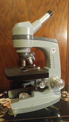 Ao Spencer Monocular Microscope Model 1034 W 3 Objectives 10x 45x 100x